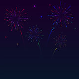Fireworks. Colorful fireworks on night sky Stock Image