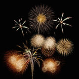 Fireworks. Colorful fireworks in the night sky Stock Image