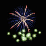 Fireworks. Colorful fireworks in the night sky Royalty Free Stock Images