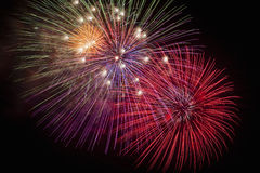 Fireworks. Colorful fireworks in the night sky Stock Photo