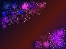 Fireworks. Colorful fireworks over dark background Stock Images