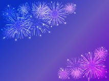 Fireworks. Colorful fireworks over dark background Stock Photography