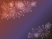 Fireworks. Colorful fireworks over dark background Royalty Free Stock Image