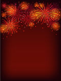 Fireworks. Colorful fireworks over dark background Stock Photo