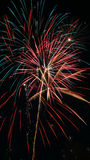 Fireworks - Colorful Red, Blue and Golden Yellow Stock Photography
