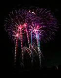 Fireworks. Colorful Fireworks scene at night Stock Image