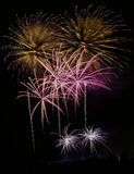 Fireworks. Colorful Fireworks scene at night Stock Photography
