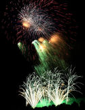 Fireworks. Colorful Fireworks scene at night Stock Photo