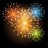 Fireworks colors. Template card holiday Royalty Free Stock Photography