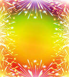 Fireworks colors card vertical. Fireworks, color greeting card, congratulations Stock Image