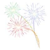 Fireworks. Colourful Fireworks celebration  illustration Royalty Free Stock Image