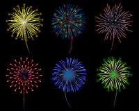 Fireworks. Colourful Fireworks celebration  illustration Royalty Free Stock Photos
