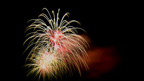Fireworks. Colourful Fireworks display at night Stock Image