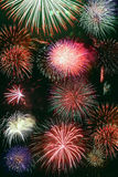 Fireworks combination Royalty Free Stock Image