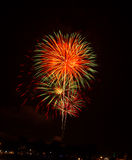 Fireworks. Competition international fireworks in Thailand Royalty Free Stock Photos