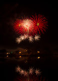 Fireworks. Competition international fireworks in Thailand Royalty Free Stock Photography