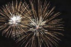 Fireworks competition, Italy show Royalty Free Stock Photo