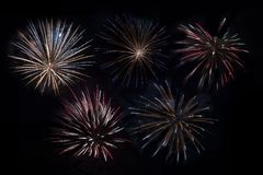Fireworks Compilation Royalty Free Stock Image