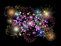 Fireworks. Composition of balloons for the new year Royalty Free Stock Image