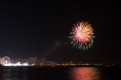 Fireworks at Coney Island on a Friday night in July royalty free stock photo