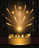 Fireworks congratulations new year 2012. Template Stock Photography