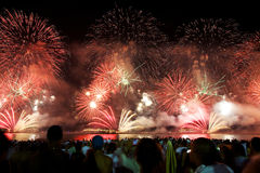 Fireworks at Copacabana Royalty Free Stock Photography