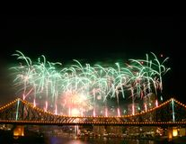 Fireworks with Copyspace stock photography