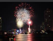 Fireworks countdown celebration Stock Photo