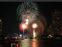 Fireworks countdown celebration Stock Image