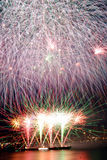 Fireworks Covered Frame Royalty Free Stock Photo