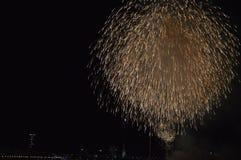 Fireworks in Düsseldorf Royalty Free Stock Photos