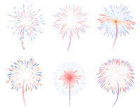 Fireworks d illustration royalty free stock photography