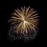Fireworks in the dark sky Stock Photo