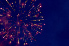 Fireworks on the dark sky Royalty Free Stock Photography