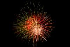 Fireworks. On dark sky in festival,thailand Royalty Free Stock Photos