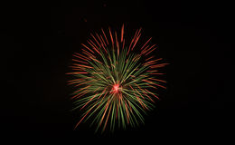 Fireworks. On dark sky in festival,thailand Royalty Free Stock Image