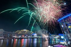 Fireworks in darling harbour Stock Image