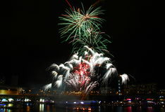 Fireworks, Darling Harbour. Sydney, Australia, April 18 2015. Fireworks happen almost every Saturday Stock Images