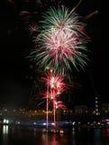 Fireworks, Darling Harbour. Sydney, Australia, April 18 2015. Fireworks happen almost every Saturday Stock Image