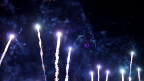 Fireworks defocus stock video