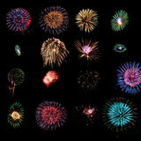 Fireworks design elements Royalty Free Stock Photo