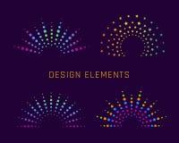 Fireworks design elements Royalty Free Stock Photo
