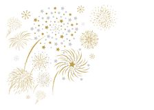 Fireworks design isolated on white background. Vector illustration Stock Images