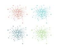 Fireworks design. On a light background. Vector illustration Stock Images