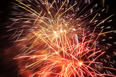 Fireworks Detail Stock Photography