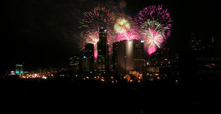 Fireworks detroit royalty free stock images
