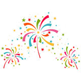 Fireworks different colors Royalty Free Stock Photography