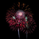 Fireworks. The disintegration of fireworks Stock Photos