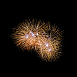 Fireworks. The disintegration of fireworks Royalty Free Stock Photography