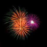 Fireworks. The disintegration of fireworks Royalty Free Stock Photo
